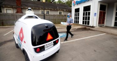 Nuro's self-driving robot will deliver Domino's pizza orders to customers in Houston