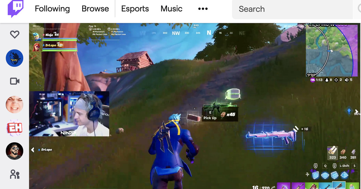 Ninja returns to Twitch for first time since Mixer shut down