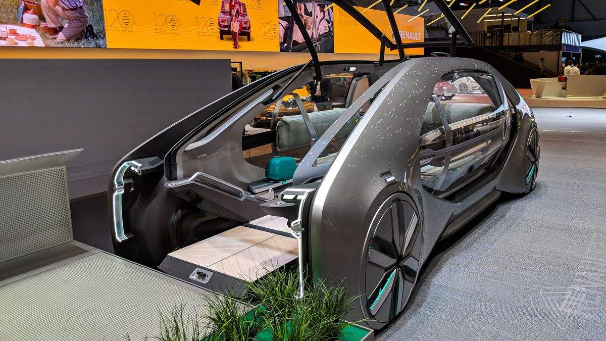 hight resolution of renault s ez go robot taxi is the most socially responsible concept in geneva