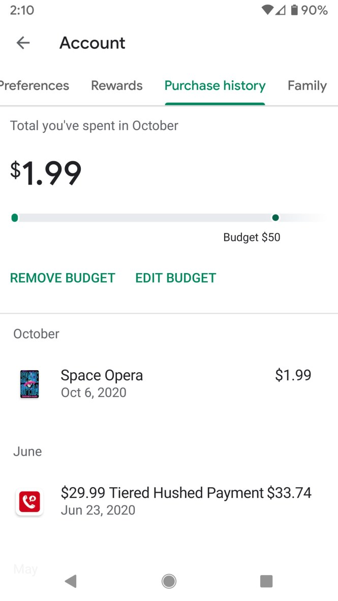 You can remove or edit the budget anytime.