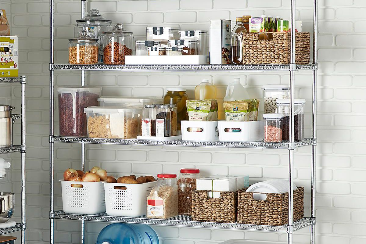 how to use wire shelves in your kitchen