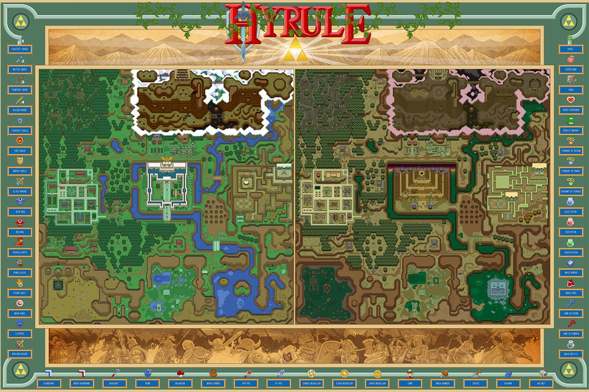 hyrule from the legend