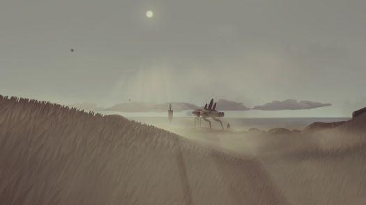 A drab grassy horizon shot from Jett: The Far Shore