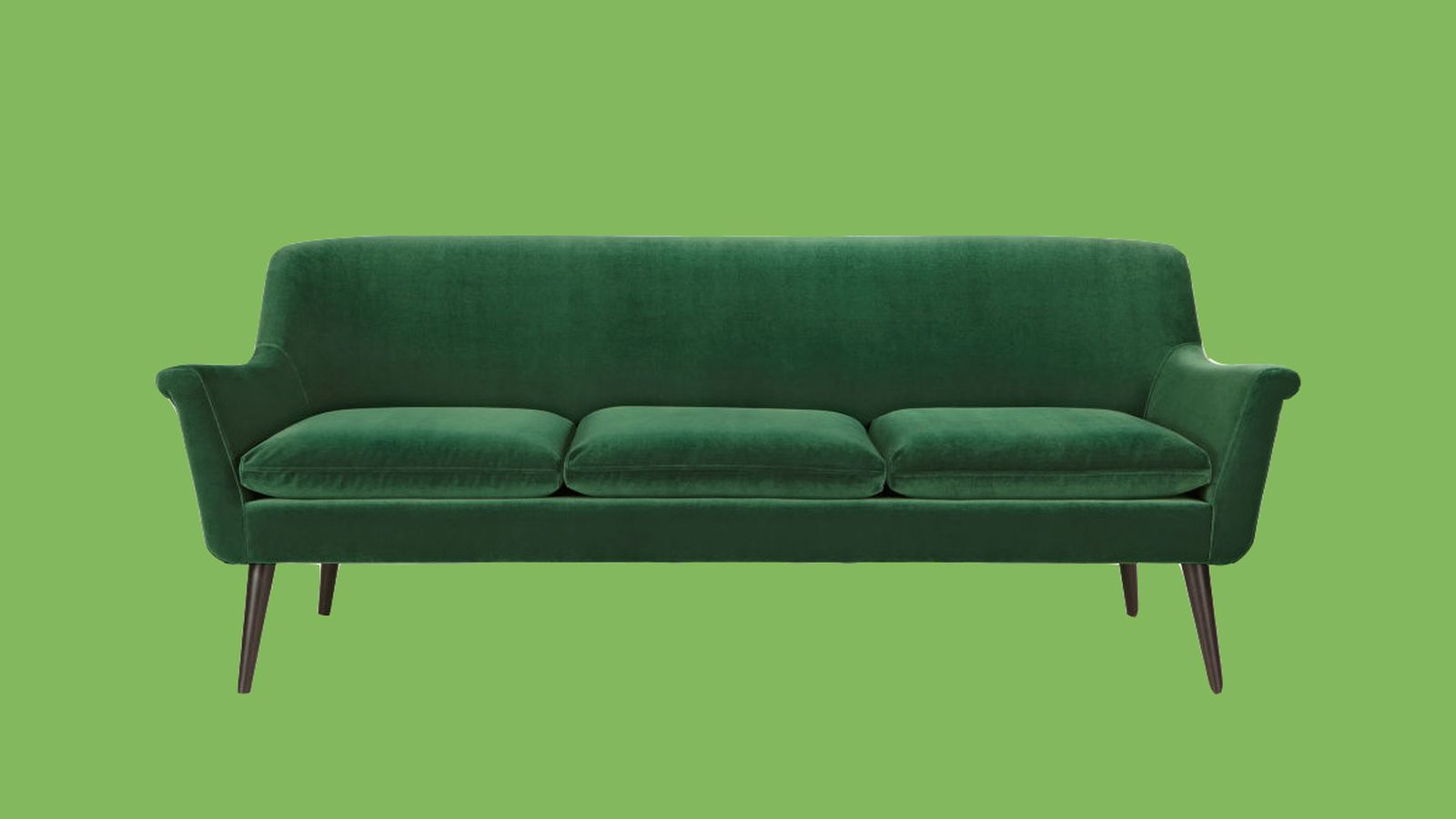 emerald green velvet sofa bed colorful fabric sofas a pinterest perfect that 39s comfortable too curbed