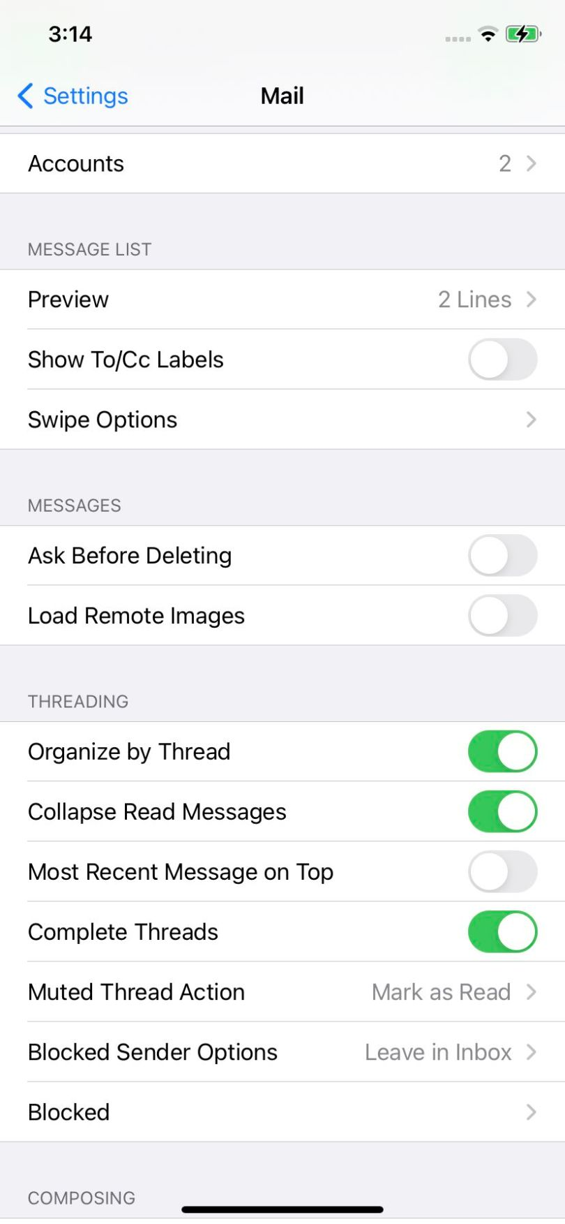 """Toggle off """"Load Remote Images."""""""
