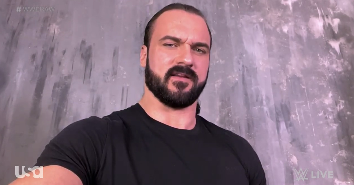 Drew McIntyre tells WWE fans to wear a mask after he tests positive for COVID-19