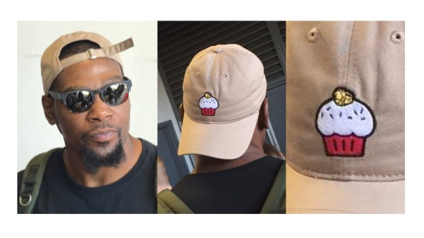 Kevin Durant Wore Cupcake Hat Charity Softball Game