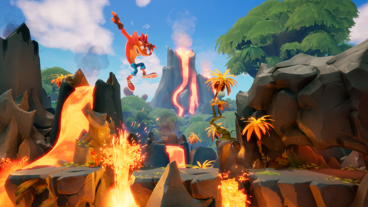 Crash Bandicoot 4: It's About Time, Crash jumping over a pit