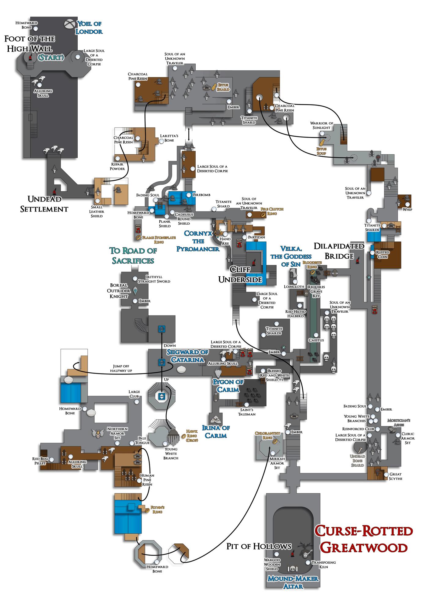 Dark Souls 3 Map Guide : souls, guide, Souls, Guide, Polygon