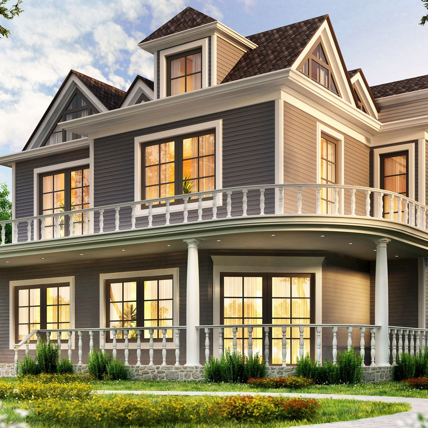 Planning Window Placement This Old House   Modern Staircase Window Design   Corner   Indian   Stair Case   Fixed Frame   Beautiful