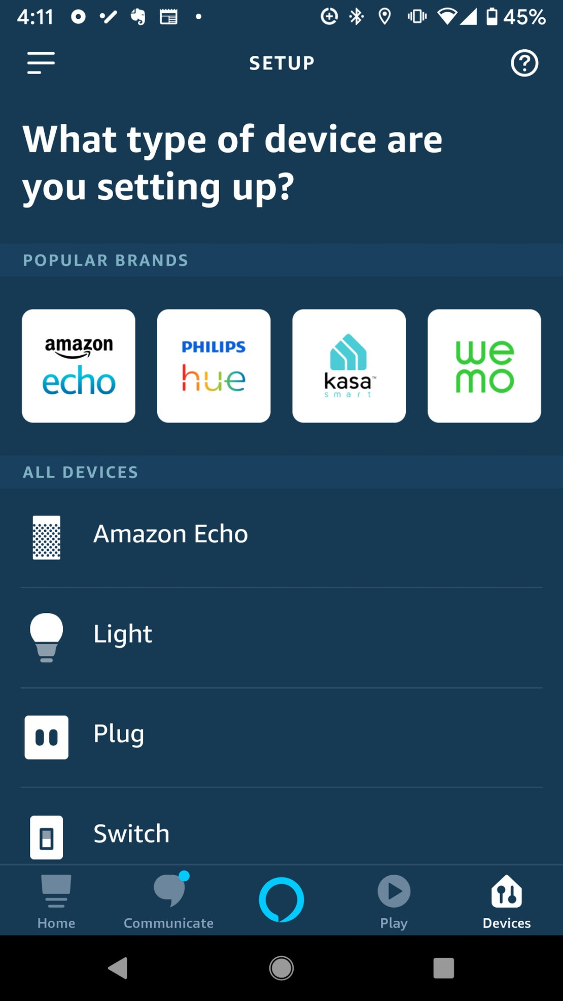 how to use Alexa to turn on the light