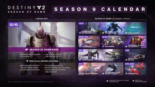 Image result for destiny 2 season of dawn calendar