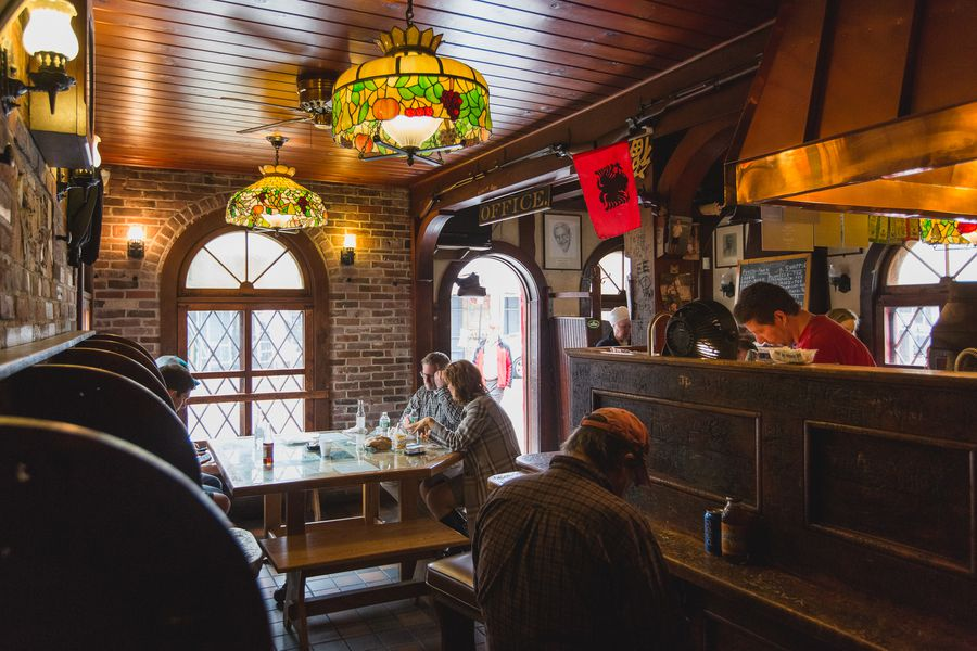 Inside Louis Lunch the 120YearOld Birthplace of the Hamburger  Eater