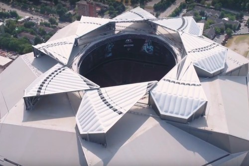 small resolution of screen captures above and below show the mercedes benz stadium roof undergoing open close test sequences aug 29 mercedes benz stadium youtube