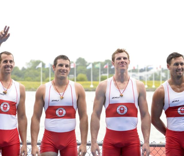 The Members Of The Canadian Mens Quad And Eights Were On Display When They Won The Gold Medals At The Pan Am Games In Toronto Its What You Get When You
