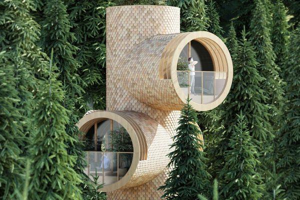 Prefab Treehouses Periscopes Peeking
