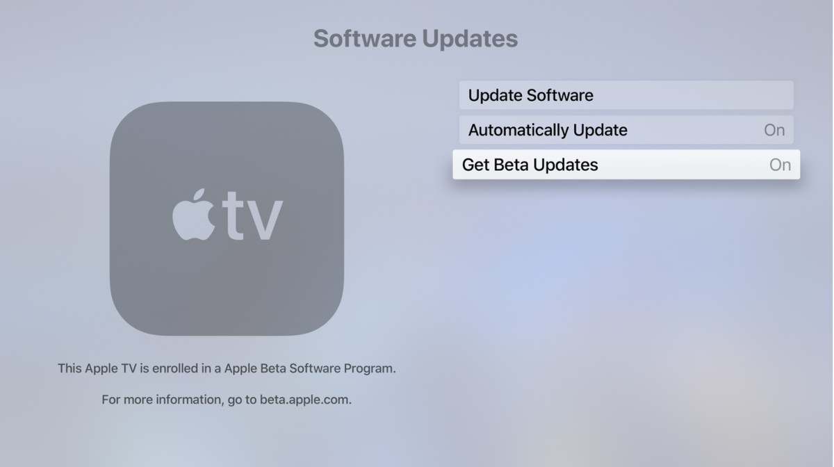 """From the settings menu, toggle on """"Get Public Beta Updates"""""""