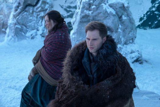 nina and matthias in the snow