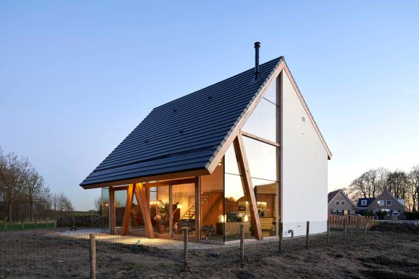 Modern barn in the Netherlands is half transparent, half ...