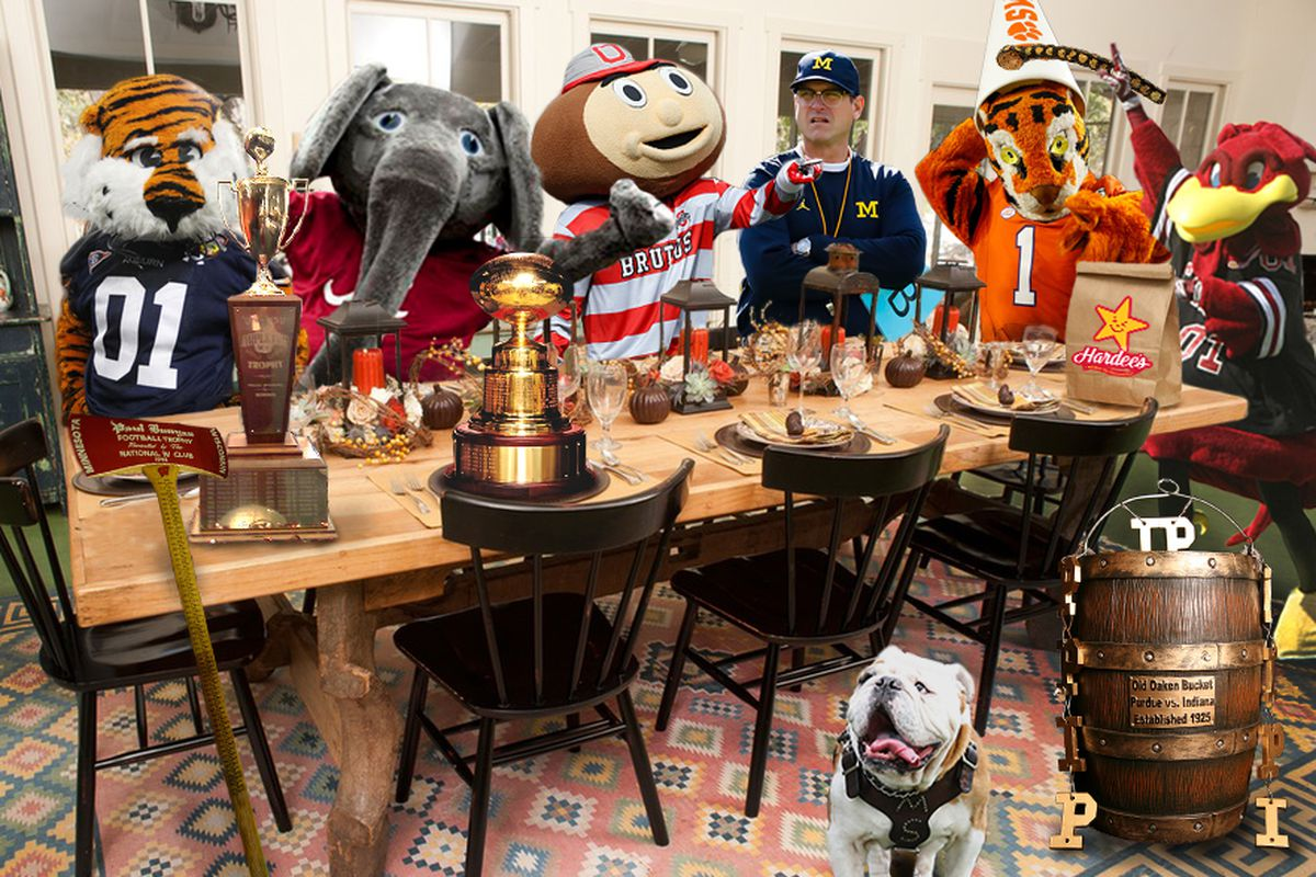 30 College Football Rivalries As Thanksgiving Food Items