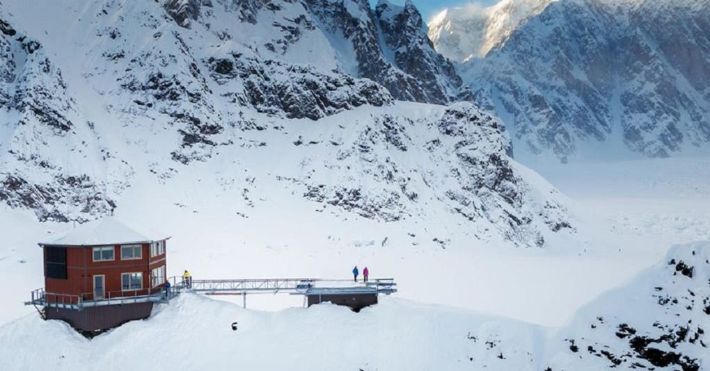 Hexagonal chalet built on North Americas highest mountain