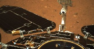 China drives its rover on the surface of Mars