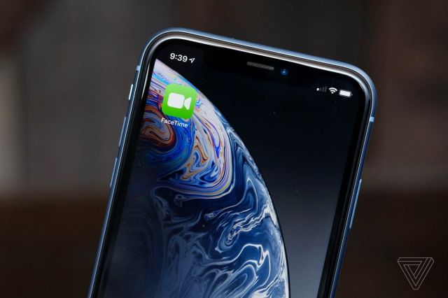 A photo of the iPhone with the FaceTime icon