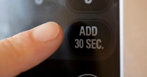 The microwave's 'add 30 seconds' button offers an escape from cold digital precision