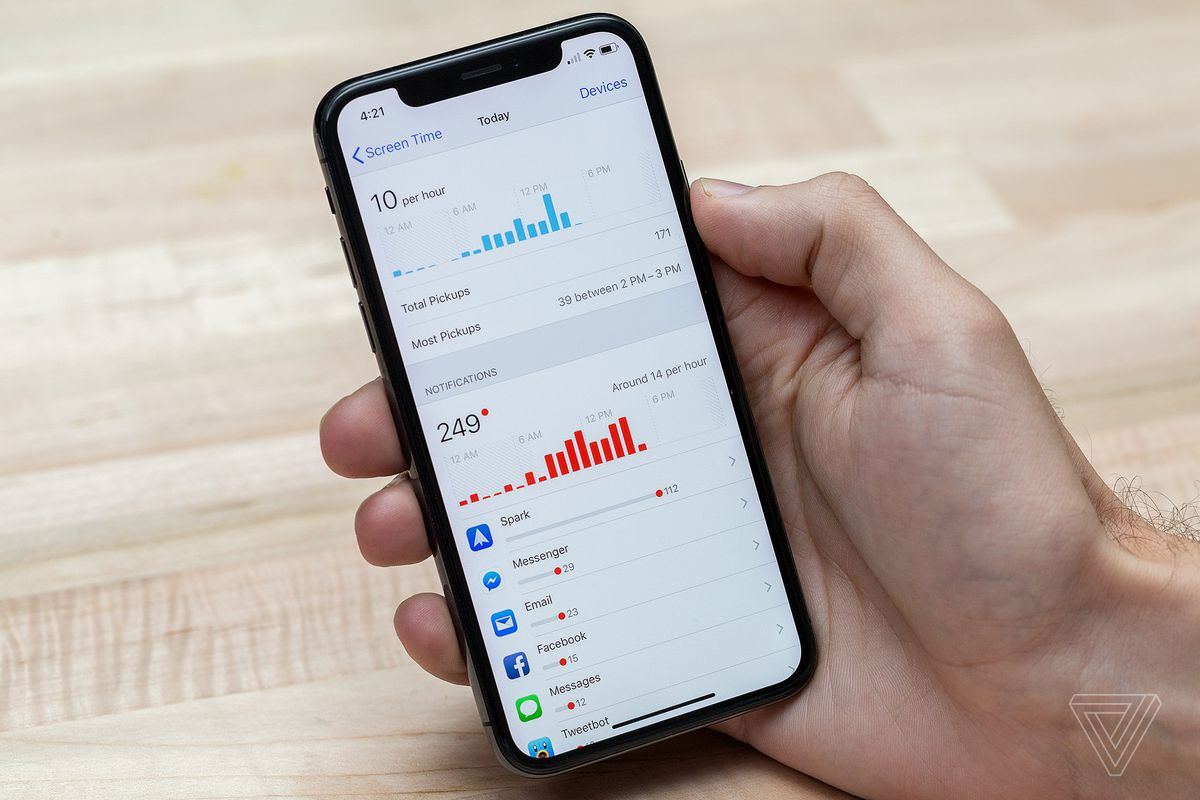 hight resolution of screen time will also deliver a weekly notification summarizing your statistics for that week this should be particularly useful for parents