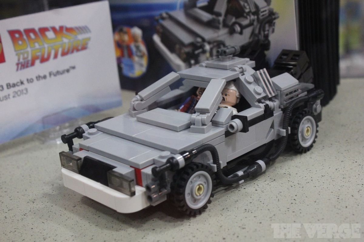 Lego Back To The Future Delorean Materializes At Comic