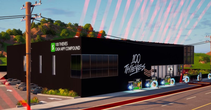 You can now explore 100 Thieves' Cash App Compound inside of Fortnite