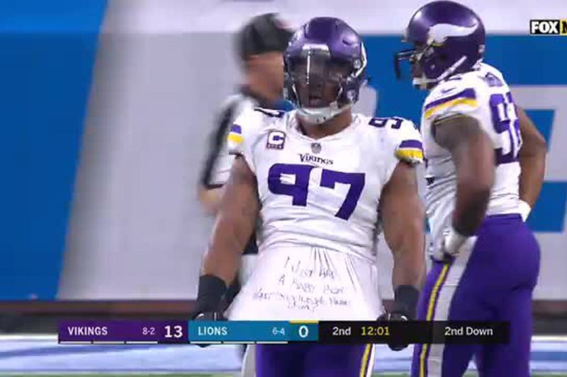 Image result for everson griffen thanksgiving jersey