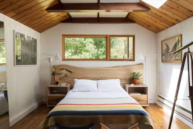 Inside The New Jersey Home Of Furniture Designer Ben Erickson Whose Rustic Meets Modern Bedroom Is Seen Here Ball Albanese