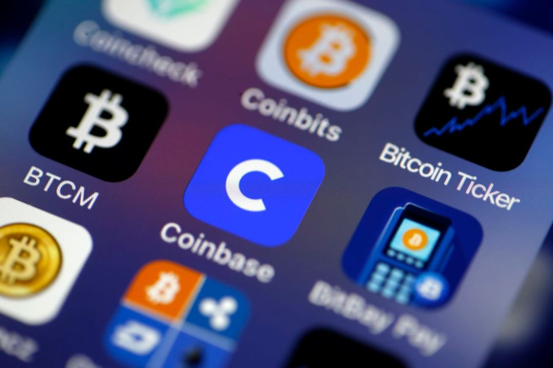 Coinbase Cryptocurrency Exchange Website : Illustration