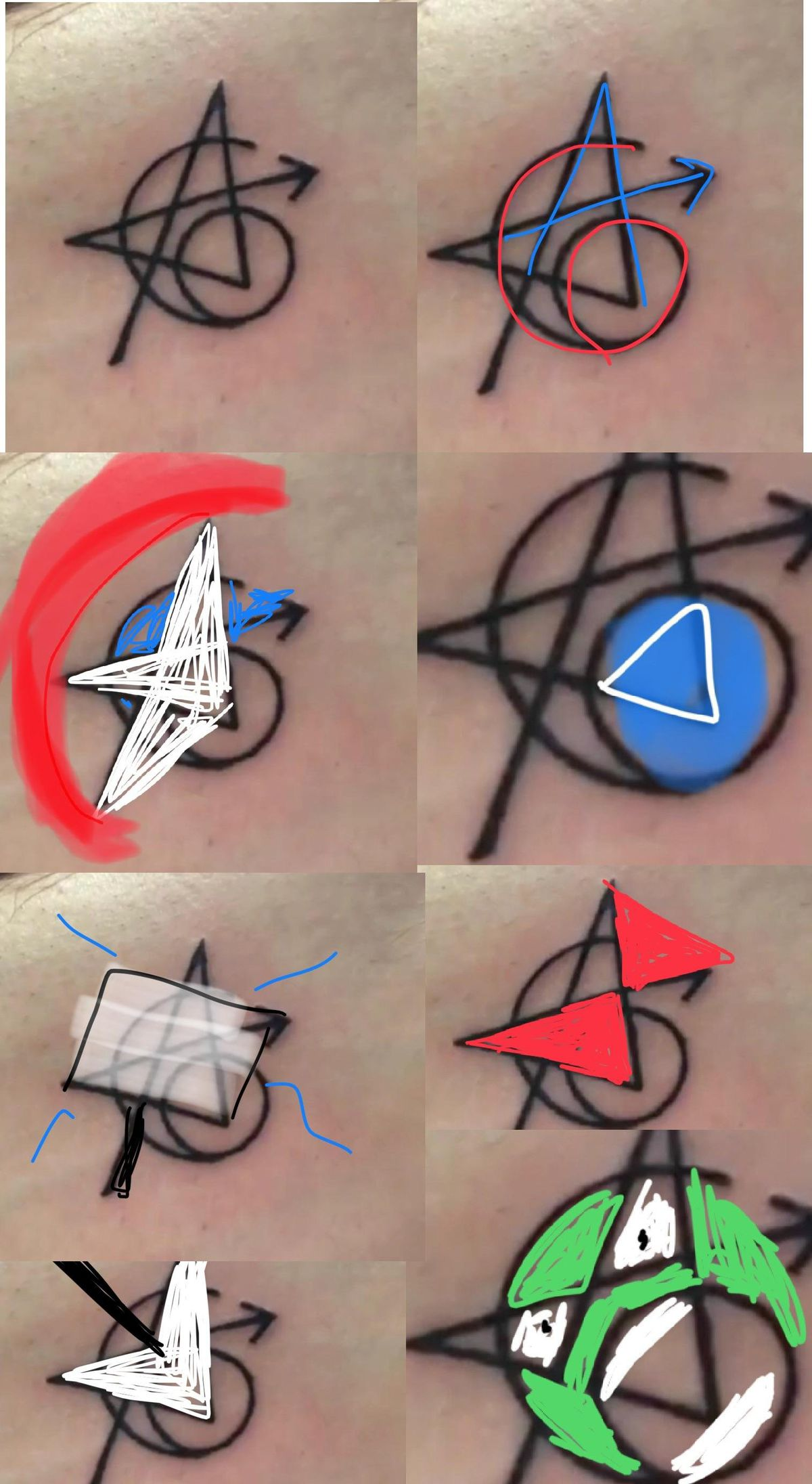 Original 6 Avengers Tattoo : original, avengers, tattoo, Avengers:, Infinity, Matching, Tattoos—with, Secret, Symbols?, Polygon