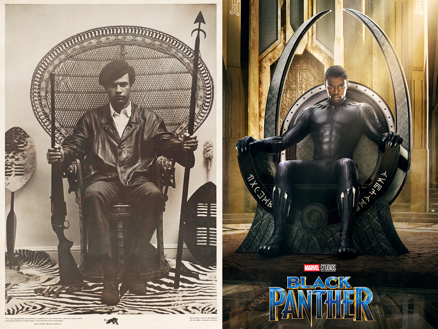 In Black Panther, Wakandas throne references real