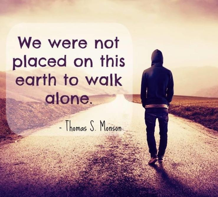 President Thomas S. Monson: 'We never walk alone' - Deseret News