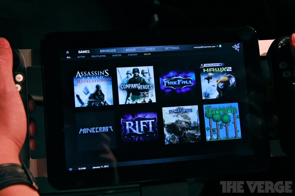 OnLive On Razer Project Fiona Pictures The Verge