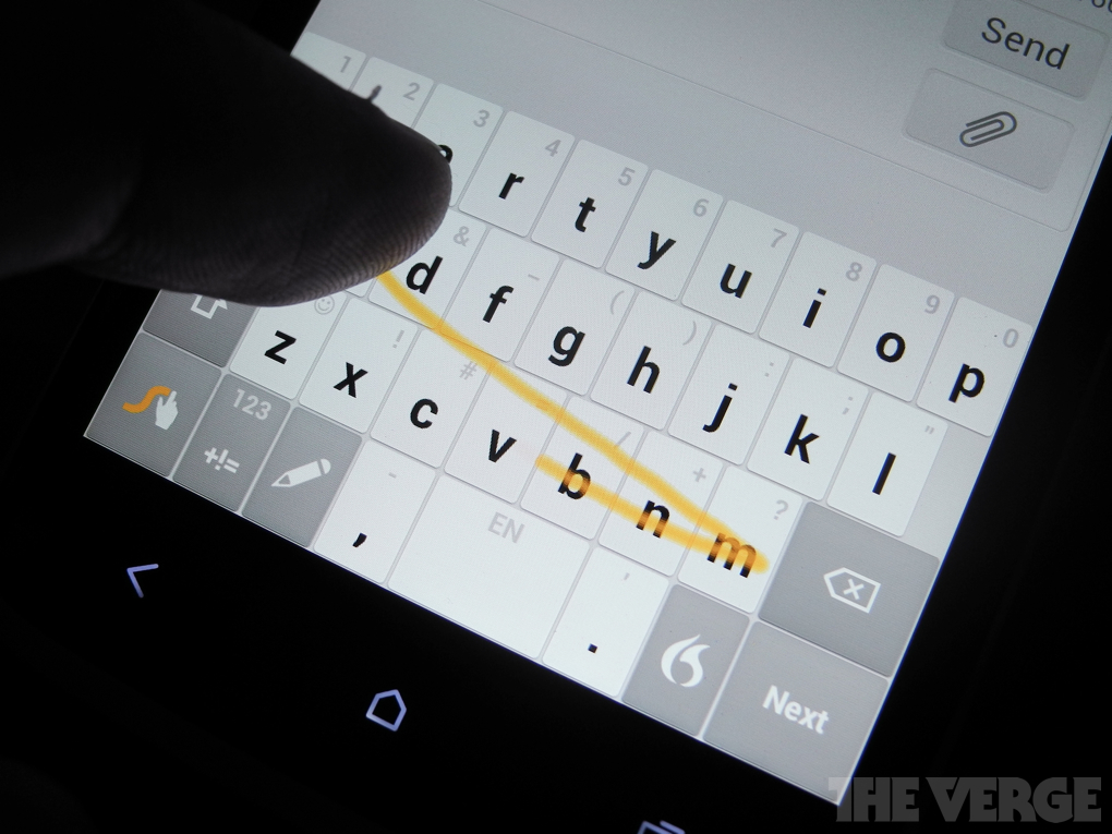 Nuances Next Generation Swype Keyboard Launches Hands On The Verge