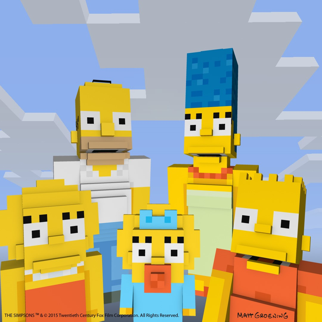 The Simpsons Are Coming To Minecraft Polygon