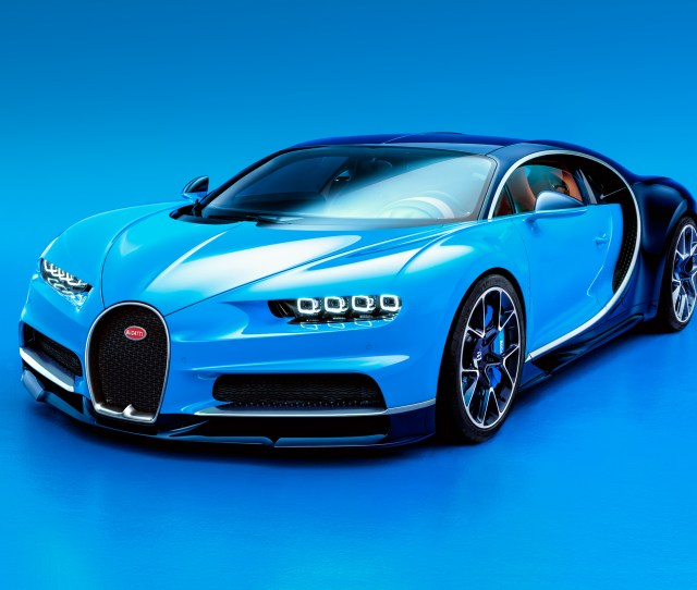 A  Page Press Release Accompanies The First Images Of Bugattis