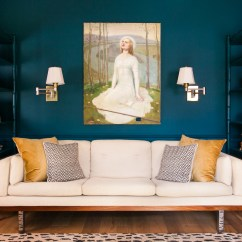 Navy Sofa Beige Walls Alberta Leather Small 2 Seater Black 13 Of The Best Blue Paints For Your Home Curbed