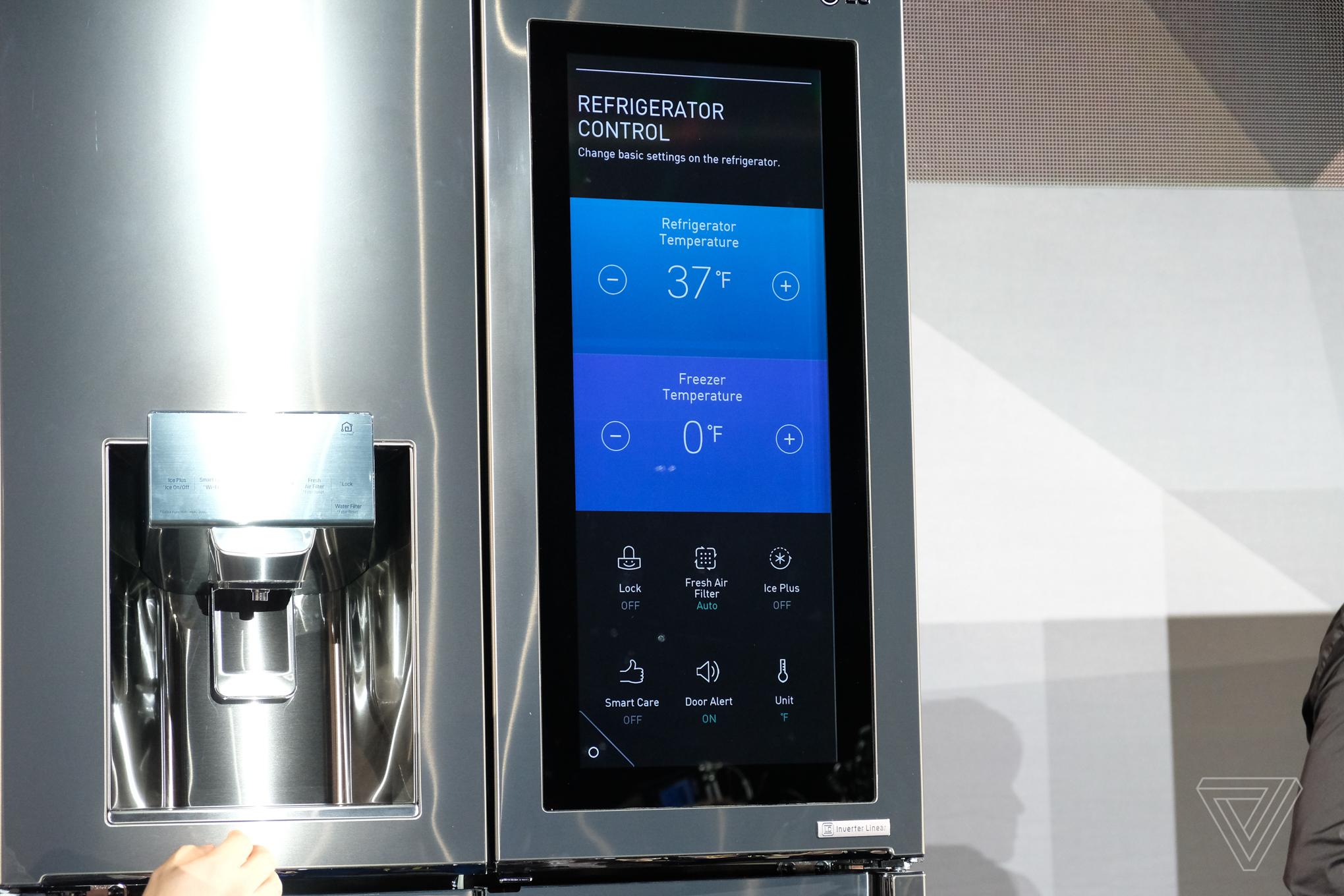 LG put webOS and Amazon Alexa on a fridge  The Verge