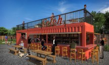 Shipping Container Dog Park