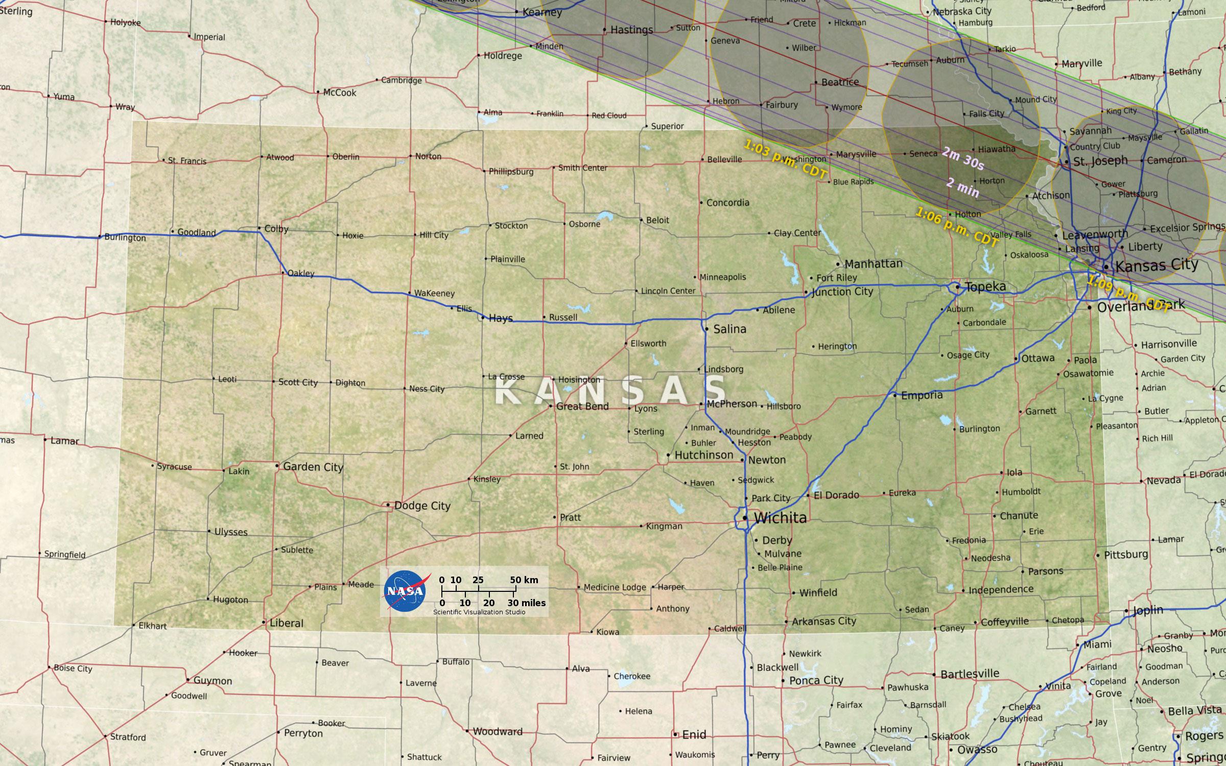 Eclipse Solar Map Nasa Interactive