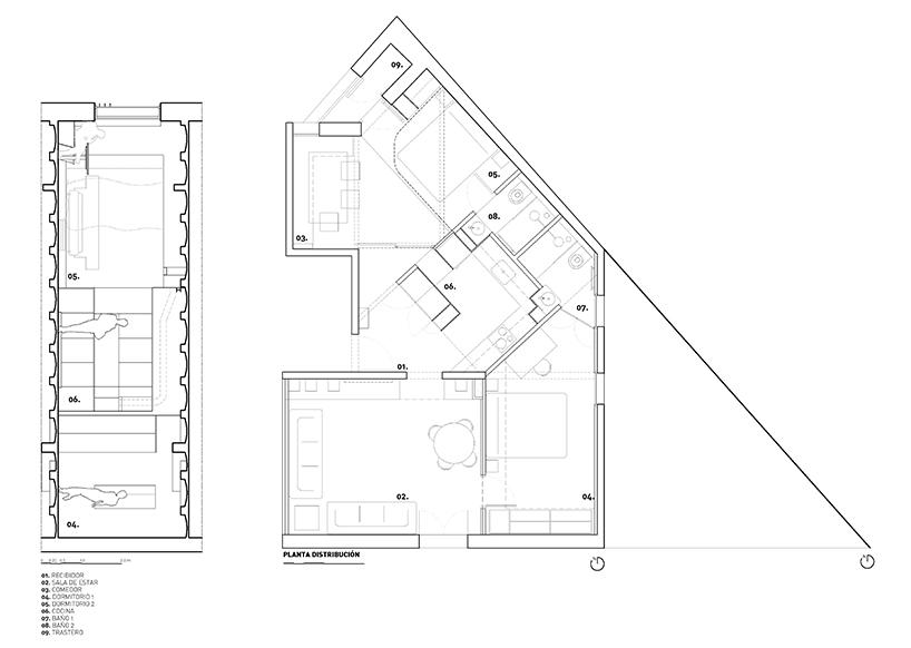 Renovation transforms traditional Barcelona apartment into