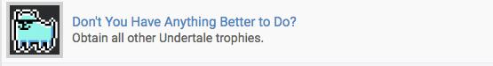 undertale platinum trophy