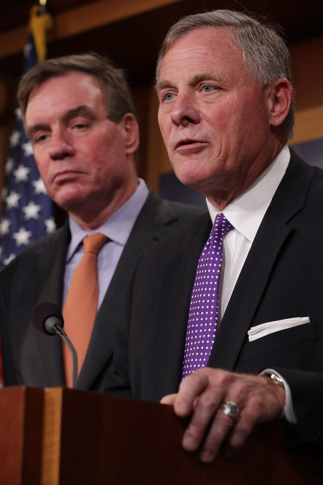Senate Intelligence Committee Leaders Brief The Media On Russia Investigation