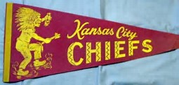 old chiefs pennant - Two championships in one season: 1969 Kansas City Chiefs