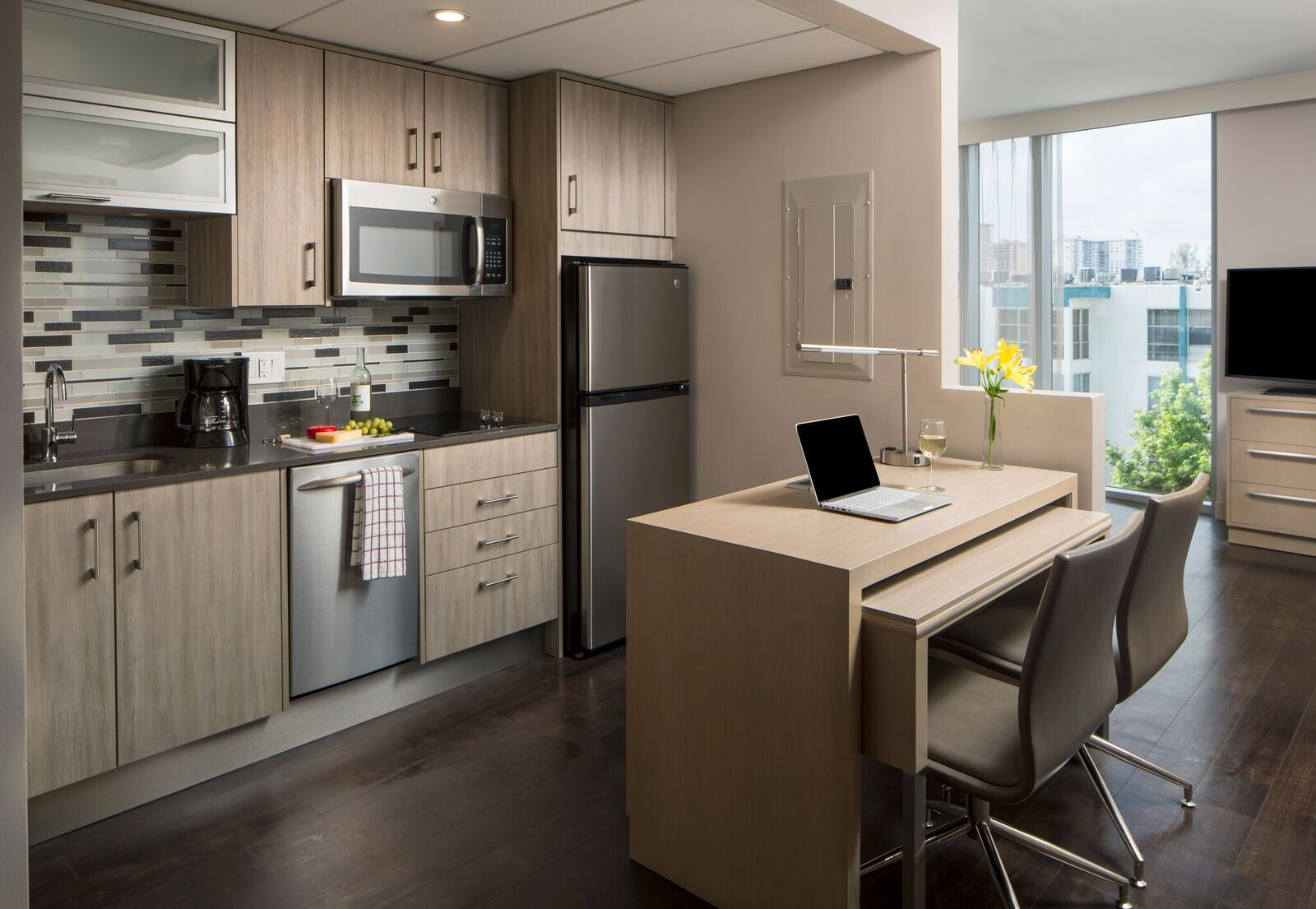 hotels in miami with kitchen small rustic island residence inn opens miamis sunny isles beach curbed